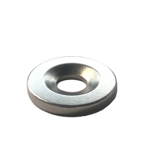 496c22f9008 Ímã de Neodímio N35 Anel 23 x 3 mm furo escariado 8 mm